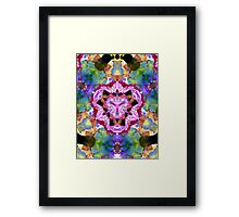 Flowers Mirrored Abstract Framed Print