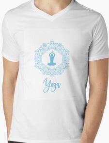 Yoga Amazing decor A Mens V-Neck T-Shirt