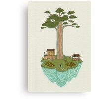 Totara House - Small Worlds Canvas Print