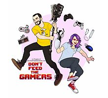 Don't Feed the Gamers  Photographic Print