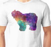 Old English Sheepdog Bobtail in watercolor Unisex T-Shirt
