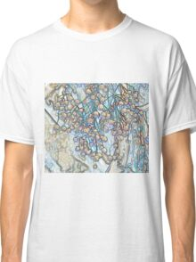 Abstract Pastel Flowers Drawing Take 6 Classic T-Shirt
