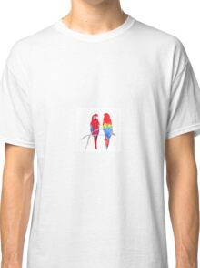 Scarlet Macaw Pair Classic T-Shirt