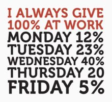 I always give 100 percent at work! by artpolitic
