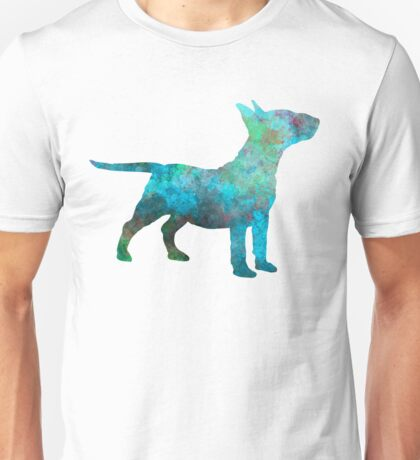Miniature Bull Terrier in watercolor Unisex T-Shirt