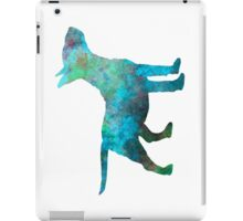 Miniature Bull Terrier in watercolor iPad Case/Skin
