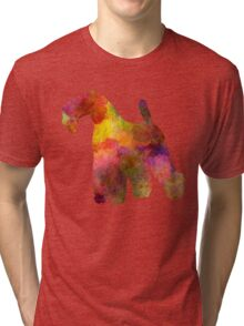 Kerry Blue Terrier 02 in watercolor Tri-blend T-Shirt