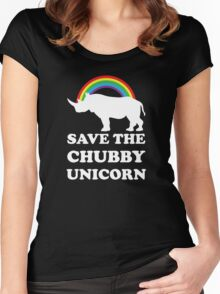 Save The Chubby Unicorn Women's Fitted Scoop T-Shirt