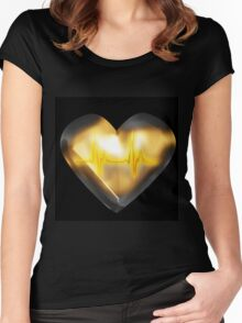 Light up my HEART Women's Fitted Scoop T-Shirt