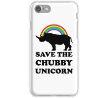 Save The Chubby Unicorn, Funny Rhino iPhone Case/Skin