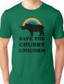 Save The Chubby Unicorn, Funny Rhino Unisex T-Shirt