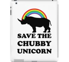 Save The Chubby Unicorn, Funny Rhino iPad Case/Skin