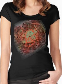 Tokyo map classic Women's Fitted Scoop T-Shirt