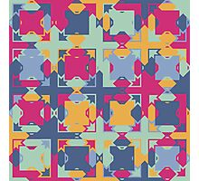 Seamless pattern. Colorful psychedelic design. Photographic Print