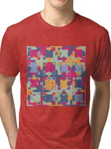 Seamless pattern. Colorful psychedelic design. Tri-blend T-Shirt