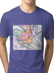 Abstract Beautiful Orchid In Pastel Colors Take 2 Tri-blend T-Shirt