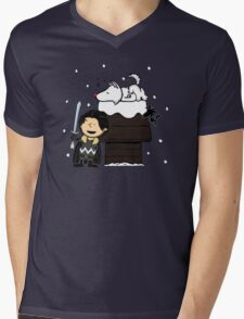 Snow Peanuts Mens V-Neck T-Shirt