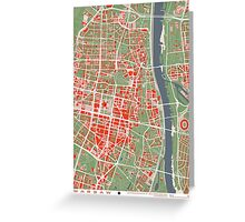 Warsaw map classic Greeting Card