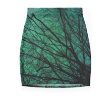 Blue and green net of branches Mini Skirt