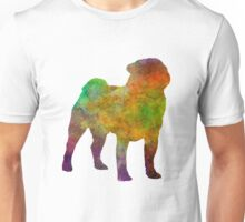 Pug 01 in watercolor Unisex T-Shirt