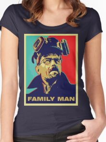 """Breaking Bad: Walter White """"Family Man"""" Women's Fitted Scoop T-Shirt"""