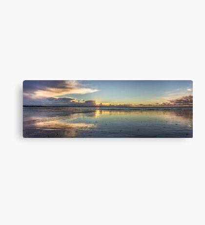 Crosby Beach Panorama Canvas Print