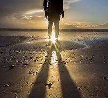 Winter Sun at Crosby Beach by Paul Madden