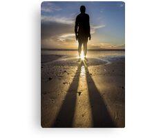 Winter Sun at Crosby Beach Canvas Print