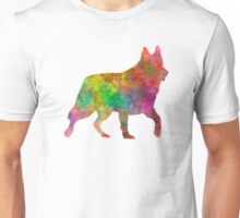 White Swiss Shepherd Dog in watercolor Unisex T-Shirt