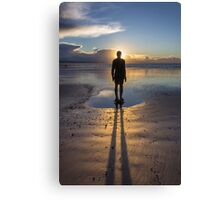 Winter Sunset at Crosby Beach Canvas Print