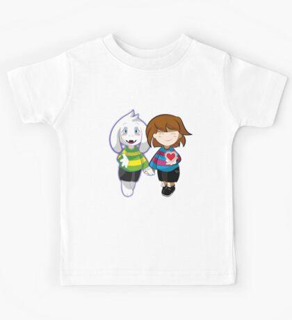 Undertale Asriel and Frisk Together  Kids Tee