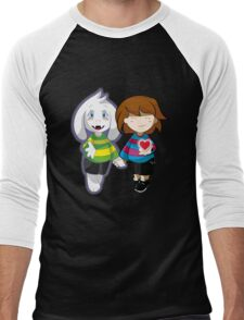Undertale Asriel and Frisk Together  Men's Baseball ¾ T-Shirt