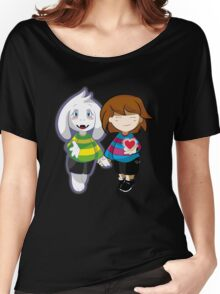 Undertale Asriel and Frisk Together  Women's Relaxed Fit T-Shirt