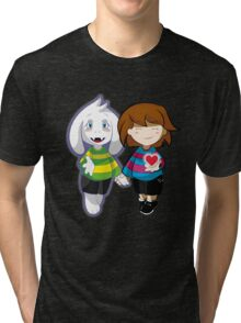 Undertale Asriel and Frisk Together  Tri-blend T-Shirt