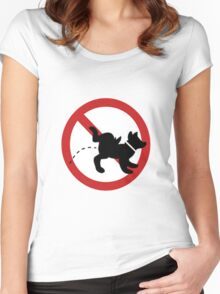 stop dog Women's Fitted Scoop T-Shirt