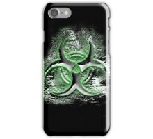 Biohazard sign, glowing toxic waste fallout symbol iPhone Case/Skin