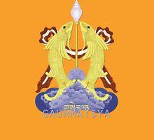 Gaurmatsya (Two Goldfish) - Buddhist & Hindu Ashtamangala Unisex T-Shirt