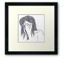 trying to hide from it all Framed Print