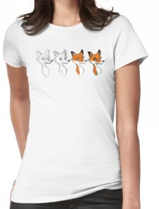 Cartoonist at work! Womens Fitted T-Shirt
