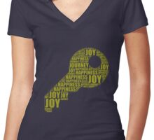 The Key -Olive Women's Fitted V-Neck T-Shirt