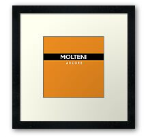 Molteni Arcore Retro Cycling Kit Framed Print