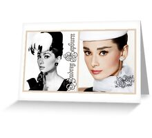Audrey in hats Greeting Card