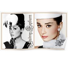 Audrey in hats Poster