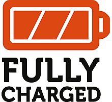 I am fully charged! Photographic Print