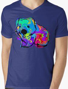 Colorful Wombat Mens V-Neck T-Shirt