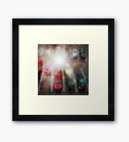 Raindrops on the window  Framed Print