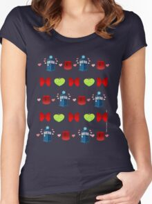 Whovian pattern Women's Fitted Scoop T-Shirt