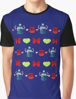 Whovian pattern Graphic T-Shirt