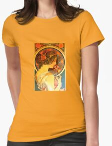 Art Nouveau Muse  Womens Fitted T-Shirt