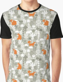 Fox in winter forest.  Graphic T-Shirt